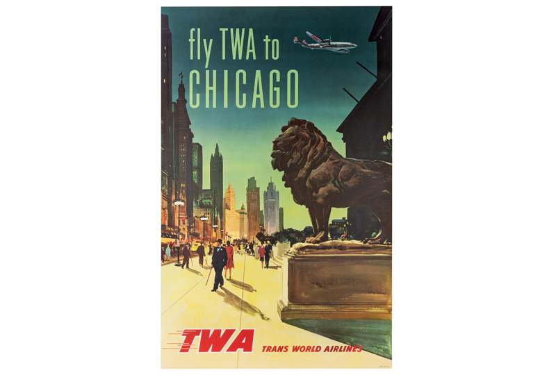 Fly TWA To Chicago