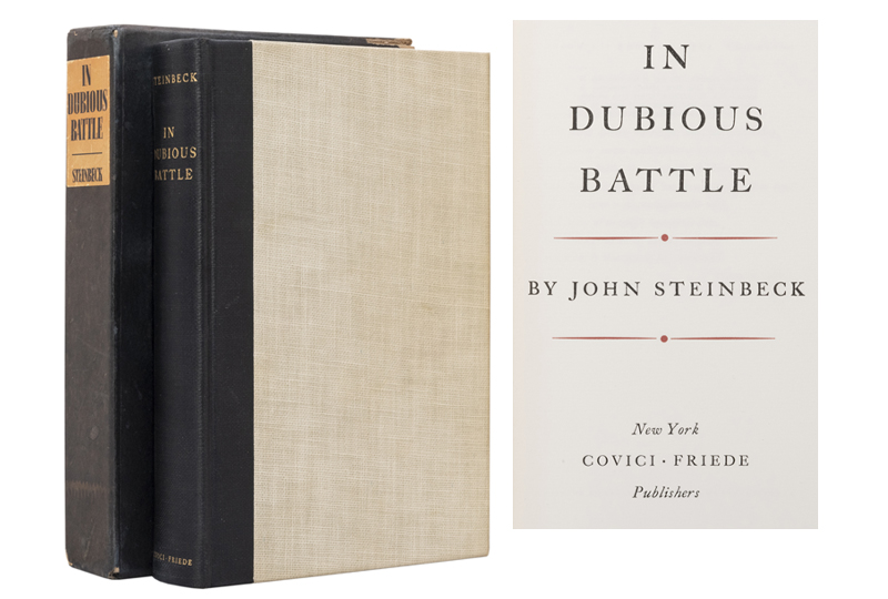 In Dubious Battle Signed by Steinbeck
